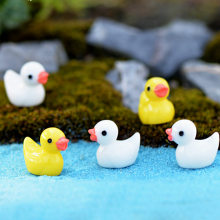 2Pcs/set Kawaii Cute Duck Micro Moss Landscape Fairy Garden Home Decor Doll House Ornaments Miniature Craft DIY Accessories(China)