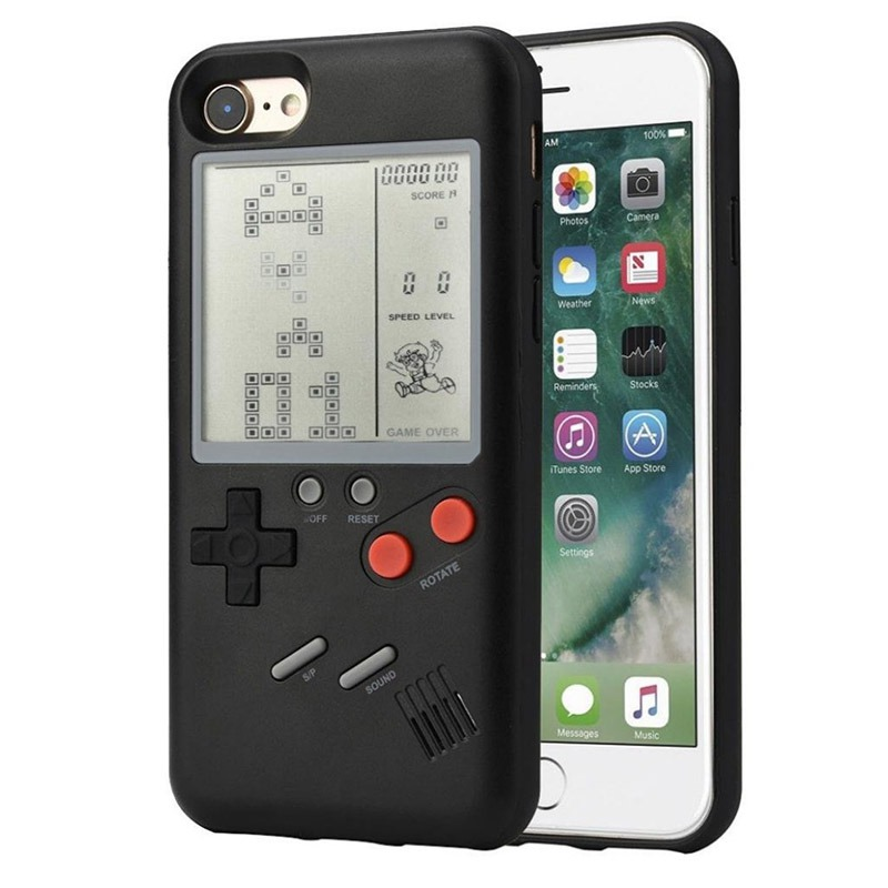 Classic Game Console Mobile Phone Shell Black/White Game Machine Shell for IPhone 6/6s/6p 7/7p 8/8p X/XS/XSMax image