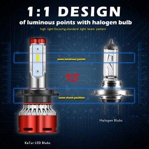 Image 2 - Katur 12000Lm توربو مصباح ليد لمبات للسيارات H8 H11 LED H4 9005 9006 HB4 HB3 H7 9012 HIR2 مصابيح 12V CPS الصمام العلوي H7 LED
