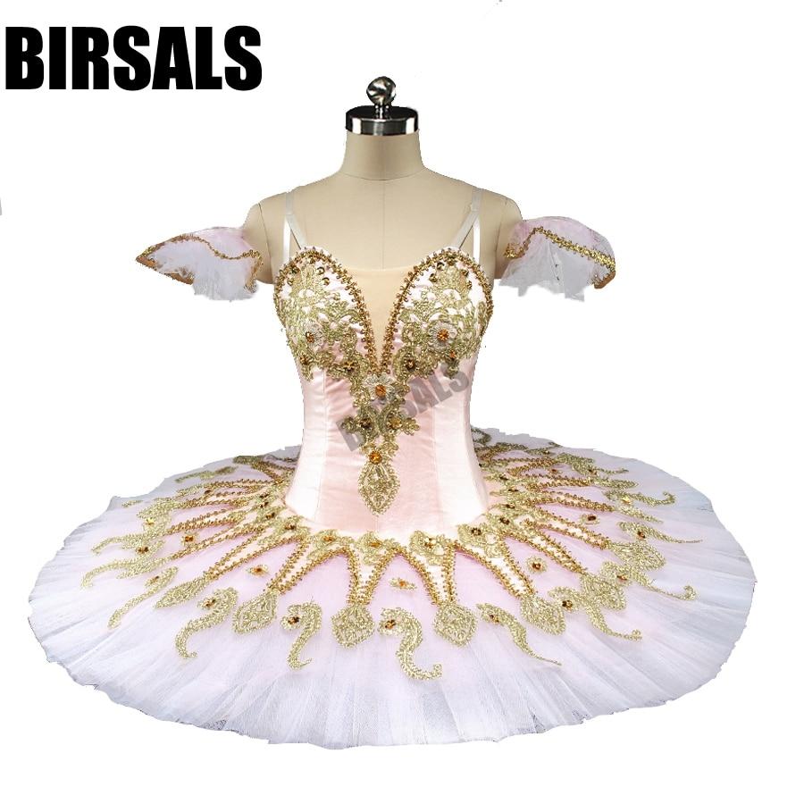 Pink Fairy Nutcracker Women Performance Professional Ballet Tutus Adult Doll Sleeping Beauty Classical Tutu Costumes BT9134D