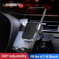 Ugreen soporte para teléfono móvil en coche para iPhone XR soporte para celular automático soporte para tablero soporte para Smartphone soporte gravitatorio