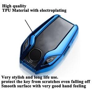 Image 2 - SEEYULE coque de clé TPU écran LED de voiture, accessoires pour BMW 5, 6, 7, G11, G12, G30, G31, G32, i8, I12, I15, X3, G01, X4, G02, X5, G05, X7, G07