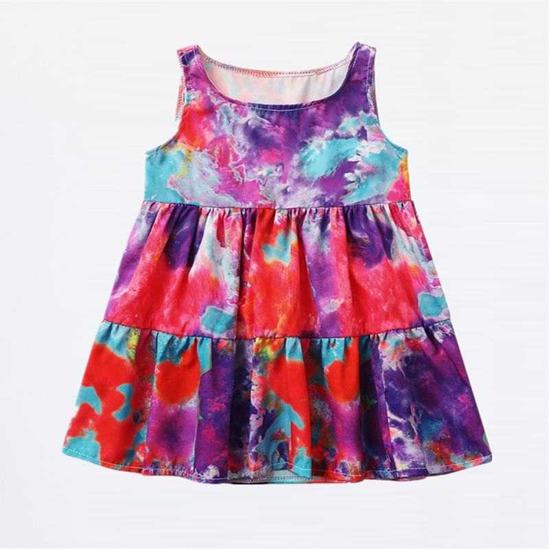 Summer Party Girls Dress Princess Costume Kids Dresses For Girls Holiday Gifts Children Boutique Beach Clothing Wear 2-6 Years 2