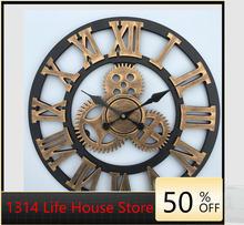 Большие настенные часы ручной работы 3d в стиле ретро деревенские