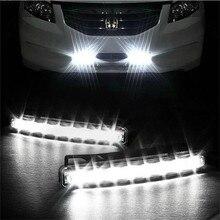 8 światła do jazdy dziennej LED dziennej samochody DRL przeciwmgielne światło dzienne głowy lampy drl do automatycznych świateł nawigacyjnych sygnał lampy samochodowe