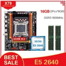 Placa mãe chipset kllisre x79 com xeon e5 2640 lga 2011 2 pçs x 8gb = 16gb 1600 ddr3 ecc reg memória
