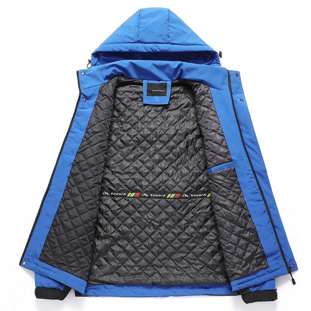 Oiata Men 2021 Spring New Brand Outdoor Vintage Thick Jacket Coat Men Autumn Fashion Patchwork Waterproof Pockets Hat Jackets 2