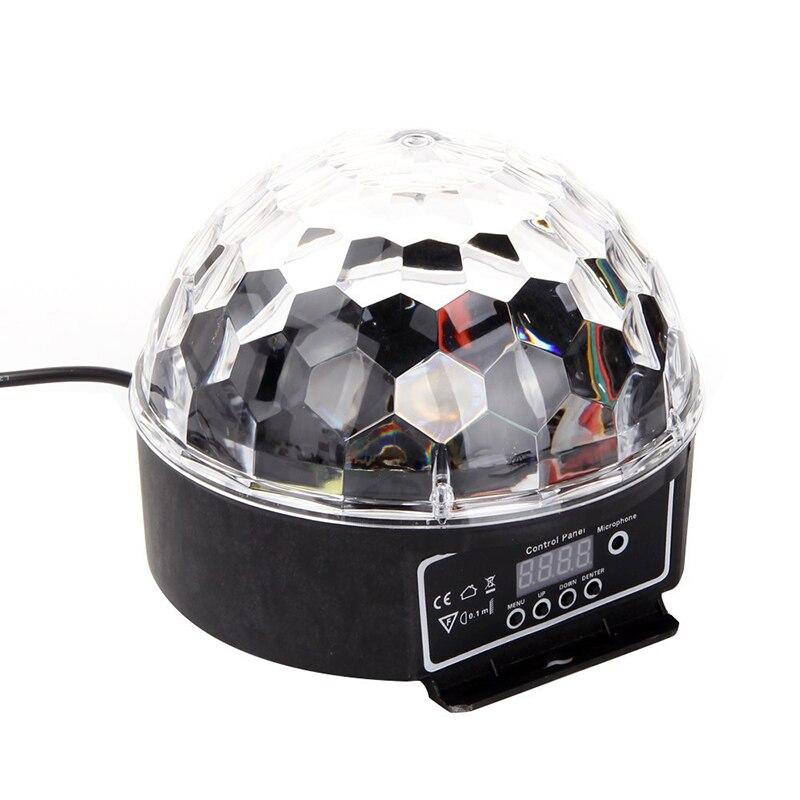LED RGB Crystal Magic Ball Effect Light DMX Disco Dj Stage Light For KTV Club Pub Bar Wedding Show Voice-activated