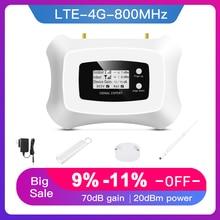 Sıcak satış! LTE 800MHz LTE 4G mobil sinyal güçlendirici akıllı cep telefonu amplifikatör 4G tekrarlayıcı avrupa bölgesi için 200Sqm