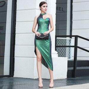 Image 5 - Robe à bandes Sexy, sans manches, moulante, boîte de nuit, robe de soirée, célébrité, nouvelle collection, été 2020