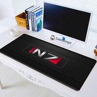800x300x3mm ordenador portátil alfombrilla grande para el ratón de juego Padmouse jugador para niño regalo efecto N7 Logo del juego