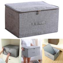 Складной ящик для хранения на молнии с крышкой для одежды Нижнее белье шкаф корзина держатель Органайзер