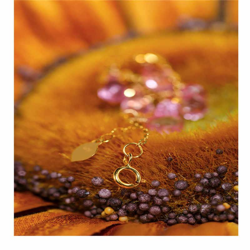 DAIMI Gypsophila Topaz Vòng Tay Đá Quý Nữ Màu Vàng 18K Màu Đá Quý Mặt Giọt Nước Trang Sức
