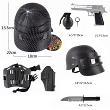 Toy Policemen Equipment Set Wearable Helmet Plastic Dagger  Toy Gun Grenade with Sound Kit for Children worker dagger cover updated version modified kit kriss vector imitation kit special for nerf stryfe modify outdoor toy gun parts