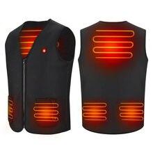 Модернизированный Электрический жилет с подогревом, тканевая куртка, USB разогревающая грелка для тела, зимняя теплая одежда, регулировка температуры, унисекс