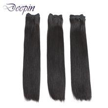 Deepin двойные вытянутые перуанские пучки прямых и волнистых волос Vrigin натуральные волосы для наращивания Цвет для топ клиента 100% человечески...