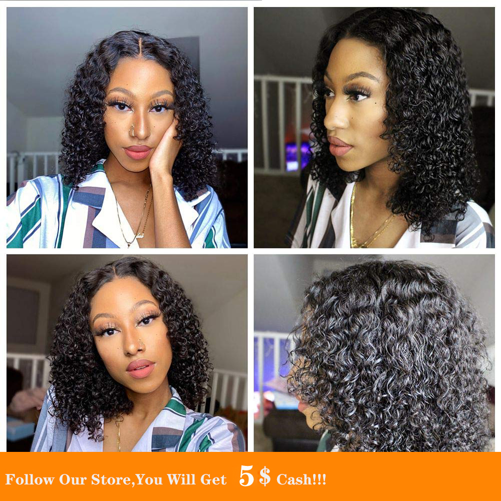 13x4 Synthetic Lace Front Wig With Baby Hair Curly Short Bob Pre Plucked Soft Nice Hair Cosplay Anime Lace Wig For Black Women