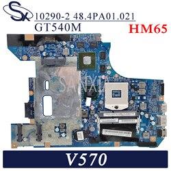 KEFU 10290-2 płyta główna laptopa dla Lenovo V570 oryginalna płyta główna GT540M