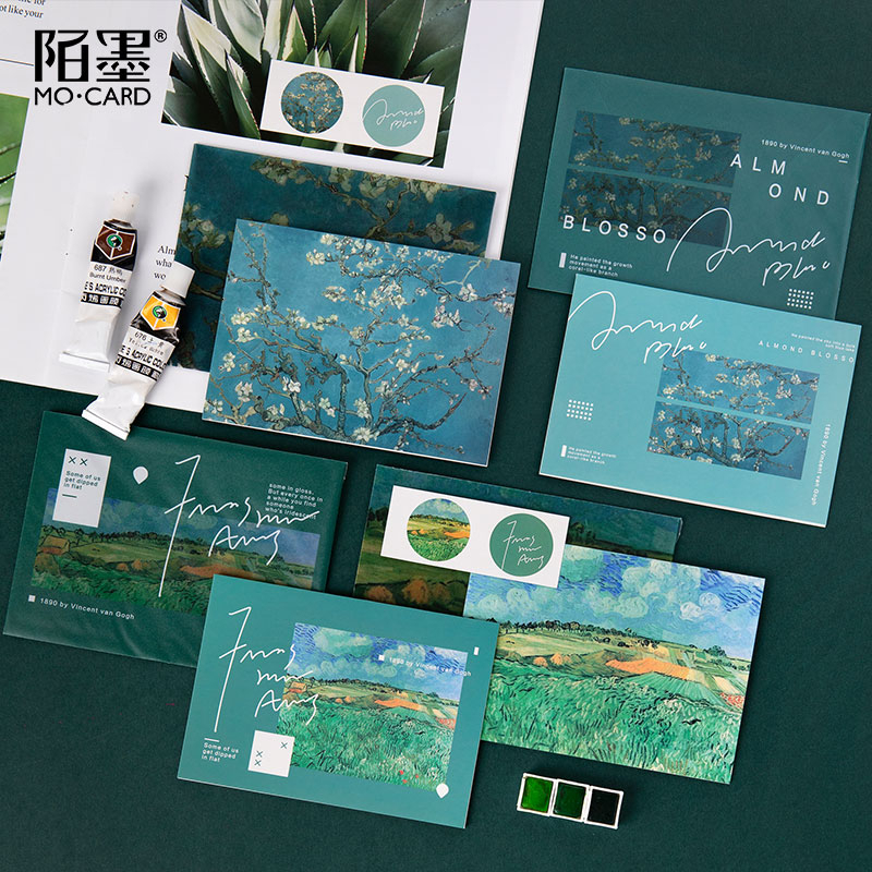 Art Museum Series Sulfuric Acid Paper Envelope And Greeting Card Decoration  Wedding Letter Invitation Scrapbooking Gift