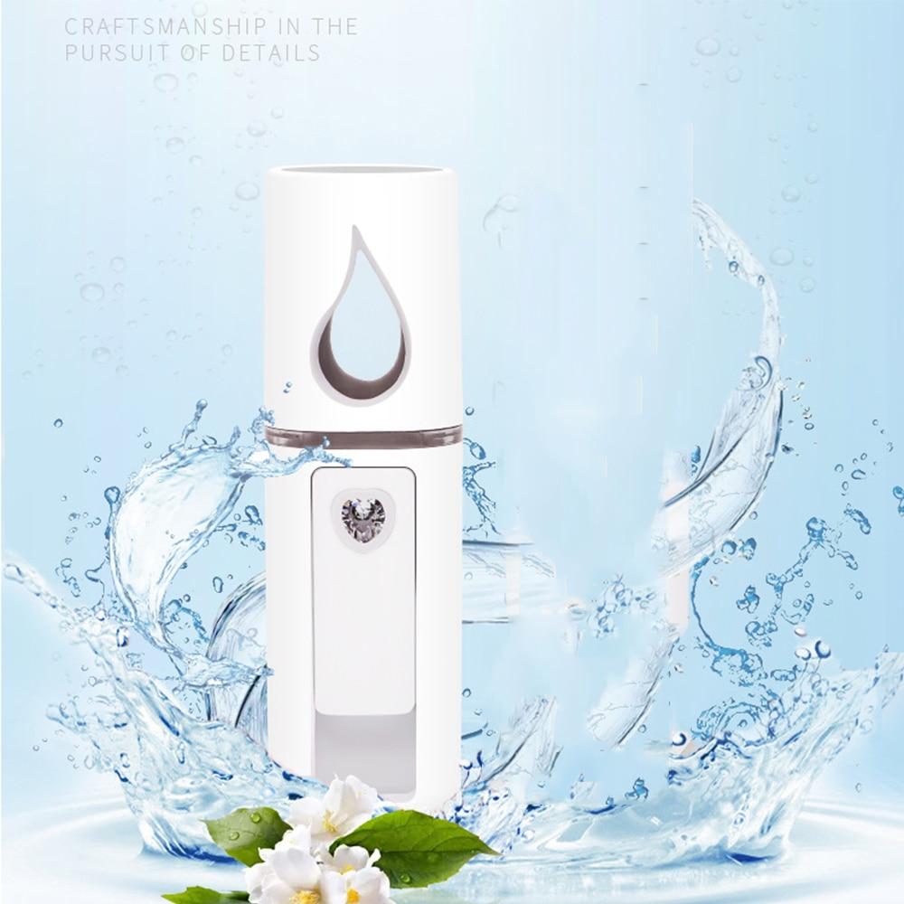 Nano Mist Sprayer Mini Facial Moisturizer Nebulizer Moisturizing Skin Care USB Charing Steamer Massage Beauty Instrument Office