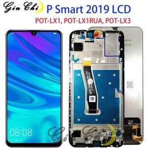 Image 1 - Tela lcd para huawei p smart, 2019, lcd, com moldura, pote lx1, lx1af, lx2j, lx1rua lx3 substituição da tela