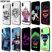 IYICAO Suicide Squad Soft Black Silicone Case for iPhone 11 Pro Xr Xs Max X or 10 8 7 6 6S Plus 5 5S SE