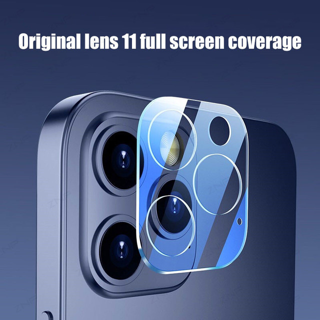 ZNP 3Pcs Camera Tempered Glass For iPhone 12 11 Pro Xs Max Lens Screen Protector On The For iPhone X XR 12 Mini Protective Film 6