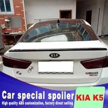 цена на K5 2016 2017 2018 New design high quality ABS material for KIA Optima  K5 spoiler primer paint rear trunk roof rear spoiler
