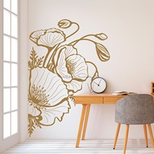 Beautiful Flower Wall Sticker Gifts for Women Fashion Living Room Bedroom Nursery Flower Shop Door Window Decoration Vinyl Decal