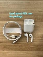 Apple – écouteurs sans fil Bluetooth AirPods 2e génération d'occasion, oreillettes avec étui de charge, tons Connect Siri, pour iPhone iPad Mac