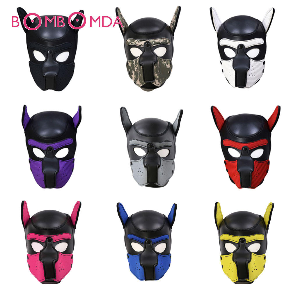 Puppy Hoods Erotic Toys Role Playing Taming Games Obedient Dog Headgear Adult Sex Toys For Husband And Wife Couples Sex Shop
