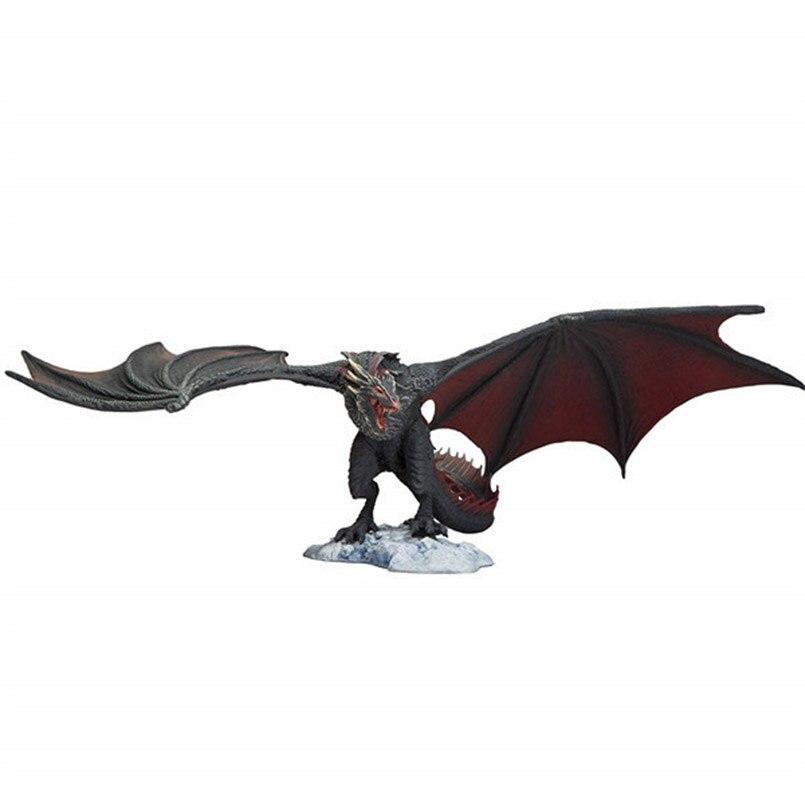 14 Cm jeu de trônes figurine Viserion glace Dragon feu Drogon PVC figurine d'action modèle à collectionner jouets pour enfant cadeau