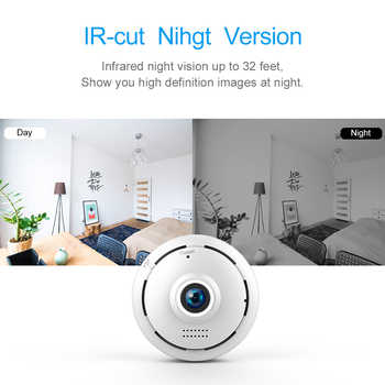 FREDI IP Camera 360 Degree Panoramic Fisheye Wireless WiFi Camera 960P HD 1.3MP Security CCTV Camera 10M Infrared Night Vision