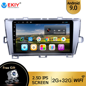 EKIY For Toyota Prius 2009-2013 Auto Radio 2 din Android 9 DVD Car Multimedia Video Player Stereo Navigation GPS Head Unit WIFI image