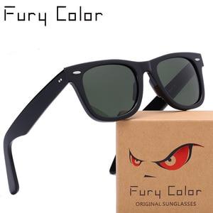 Image 2 - Lente de vidro óculos de sol óculos masculino de armação de Acetato de mulheres de luxo da marca homens UV400 óculos de sol oculos de sol feminino 2140