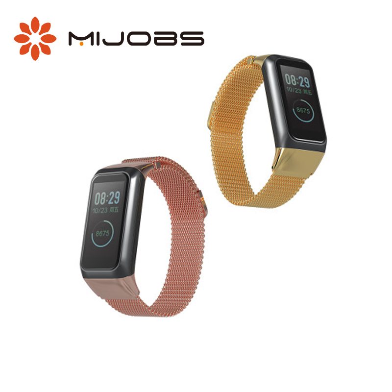 <font><b>Bracelet</b></font> For Xiaomi <font><b>Amazfit</b></font> <font><b>Cor</b></font> <font><b>2</b></font> Strap Milanese Magnetic Version Strap For Huami <font><b>Amazfit</b></font> <font><b>Cor</b></font> <font><b>2</b></font> Smart Wristbands Replacement image