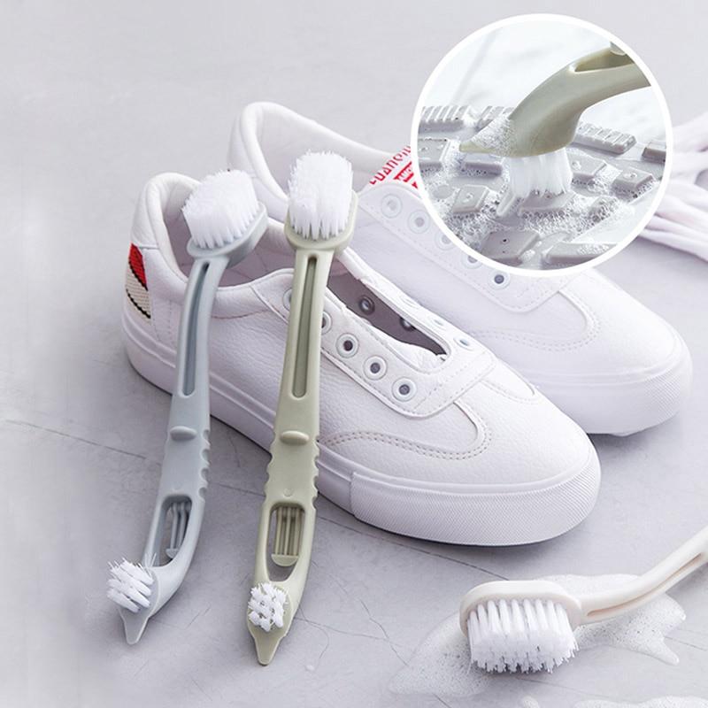 Duplo-end Sapatos Escova de Limpeza Cleaner Sneaker Sapatos Brancos Kit Multifunction Household Cleaner Ferramenta de Limpeza Escova de Roupa