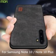 Mofi Für Samsung Note 10 Plus Fall samsung galaxy note 10 + Abdeckung Gehäuse Silikon stoßfest jeans PU leder TPU