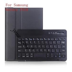 Capa de teclado bluetooth retroiluminado para samsung galaxy tab a 10.1 2019 t510 t515 SM-T510 SM-T515 teclado capa de couro do plutônio + presente.