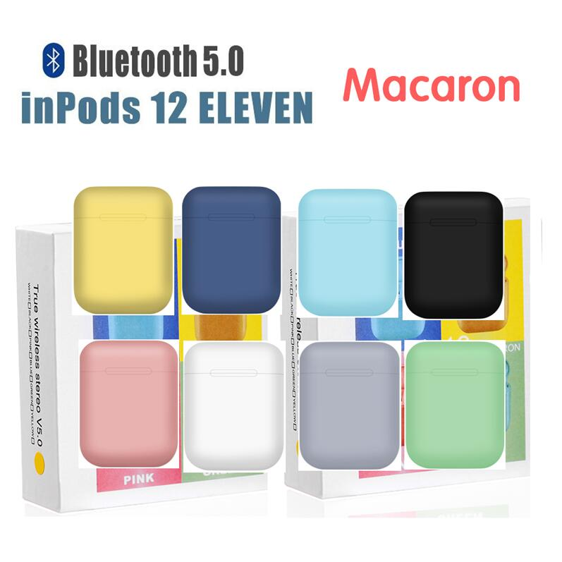 Macaron inPods 12 i12 <font><b>TWS</b></font> Bluetooth Earphone Mini Headphone Wireless Earbuds Bluetooth Headset Auriculars <font><b>Fone</b></font> PK i7s <font><b>i9s</b></font> image