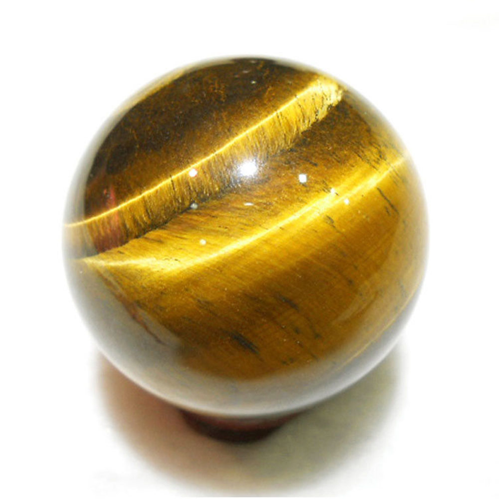 2cm Round Rare Handmade Tiger Eye Natural Crystal Healing Ball Sphere Yellow Mini Pendants Gift Toy