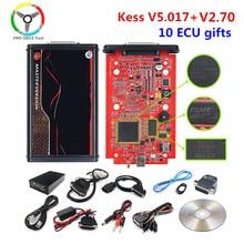 Kess em linha kess 2.53 ue vermelho kess v5.017 mestre nenhum token kess v7.020 gerente tuning kit v2.25 ecu programador