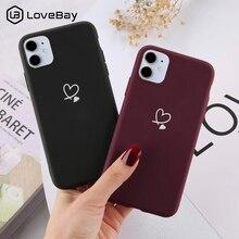 Lovebayカラフルなラブハート電話ケースiphone 11 12プロ × xr xs最大5s、se 2020 6 6s 7 8プラスキャンディーカラーソフトtpuバックカバー