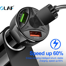 OLAF QC4 0 3 0 Super USB Car Charger for Xiaomi mi 9 Quick Charge 3 0 4 0 Fast Car Charging Phone Charger for Huawei P30 lite cheap Car Lighter Slot ROHS Car Charger For Phone in Car 12-24V 2 4A Mobile Phone Charger USB Car Adapter Black White Double USB Charger