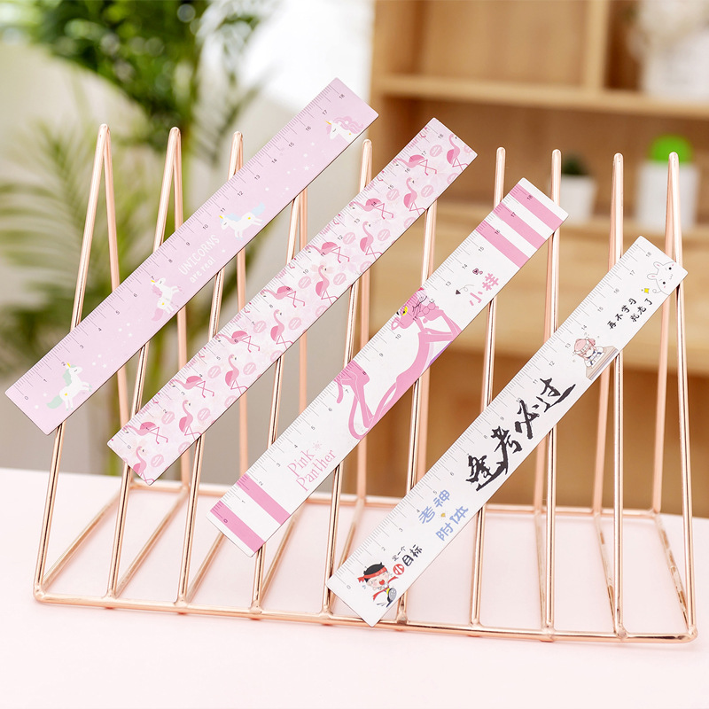 Magnet unicorn Flamingo Pink Panther Ruler Cute 18cm Bendable Measuring Drawing Tool Promotional Stationery gift school supplies