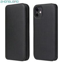 고급 소프트 가죽 플립 전화 케이스 아이폰 11 프로 Xs 최대 Xr X 8 7 6 6s 플러스 카드 홀더 지갑 커버 아이폰 SE 2020 케이스