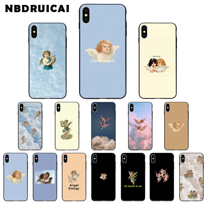 NBDRUICAI RenaissanceแองเจิลกามเทพTPUซิลิโคนโทรศัพท์สำหรับiPhone 11 Pro XSสูงสุด8 7 6 6S Plus X 5 5S SE XR