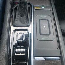 10W caricabatteria da auto senza fili per Volvo XC90 V90 S90 XC60 2018 2019 2020 senza fili QI caricatore del telefono piastra di ricarica accessori