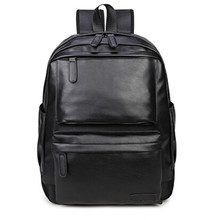 New Fashion Men Backpack Men #8217 s Backpacks for Teenager Luxury Designer PU Leather Backpacks Male High Quality Travel Backpacks #5 cheap ISHOWTIENDA Embossing Unisex External Frame Solid Bag Below 20 Litre Interior Slot Pocket Interior Compartment Soft Handle