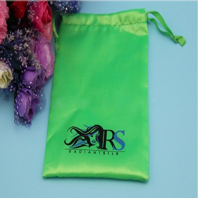 Échantillon de sac de cordon bon marché de petite taille avec 1 logo de couleur dans le matériel microfibre de toile de satin de lin de jute de coton de velours et autre - 2